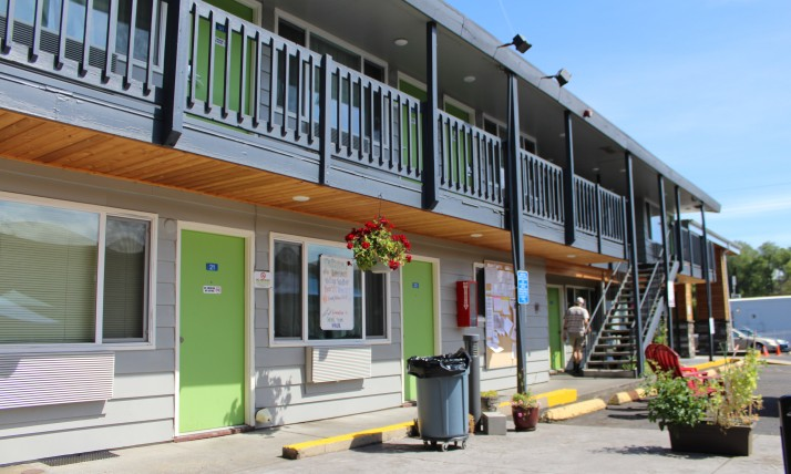 Banfield Motel Exterior Shot