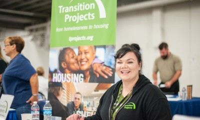 woman sitting at resource event