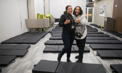 Women in Severe Weather Shelter