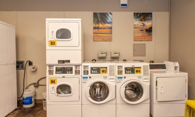 Laundry Machines at Resource Center