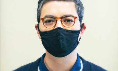 Man with Black Mask and Glasses