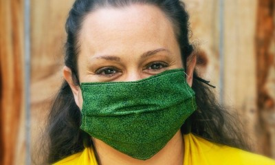 Woman with Green Mask