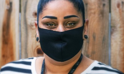 Woman with Black Mask